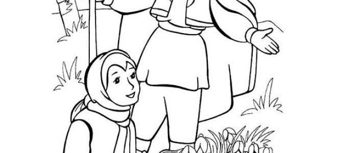 Поэтапные рисунки карандашом к сказке 12 месяцев