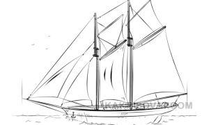 Поэтапные рисунки к произведению Алые паруса