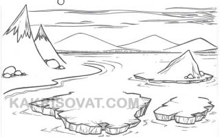 Как нарисовать Арктику карандашом