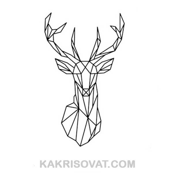 Kerst Kleurplaat Rendier Черно белые картинки рисунки для срисовки карандашом