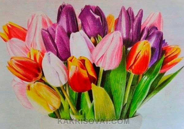 Рисунок цветными карандашами