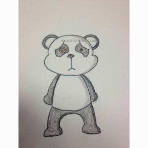 грустный медведь рисунок карандашом