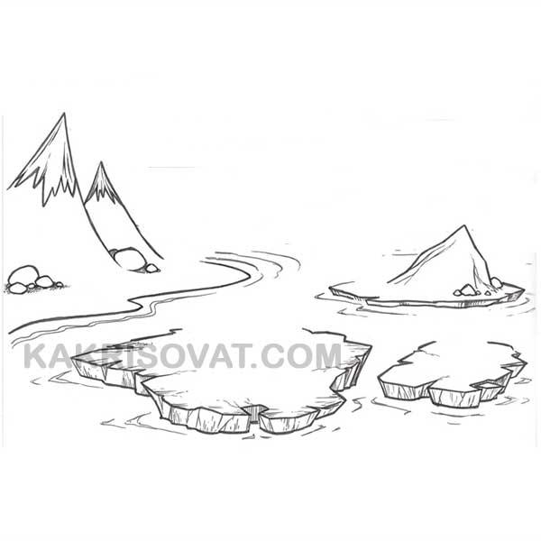Как нарисовать арктику карандашом поэтапно
