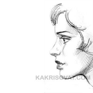 штриховка лица женщины