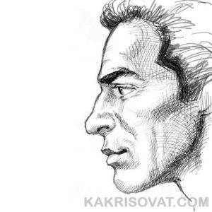 лицо мужчины штриховка карандашом