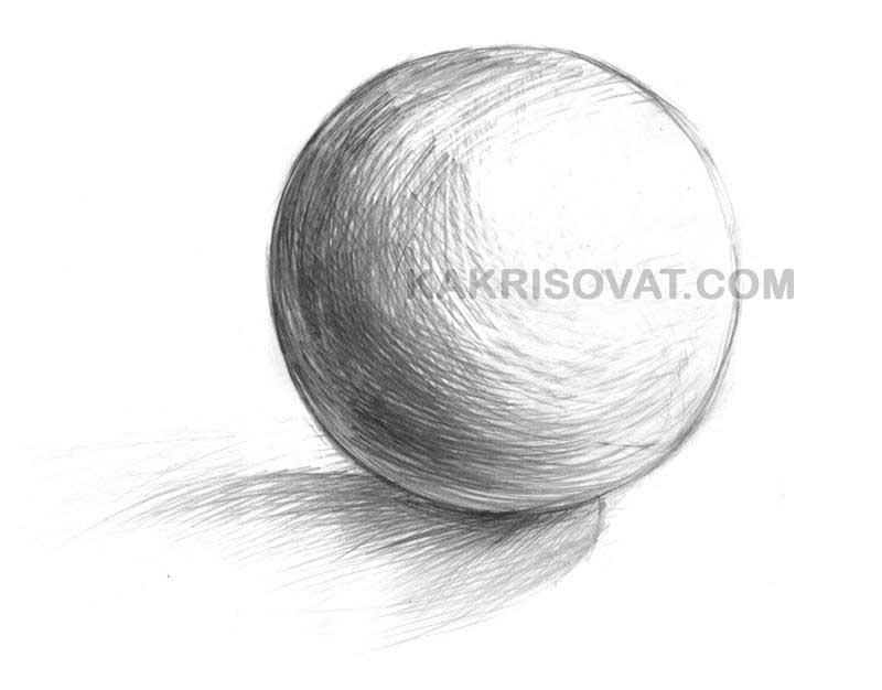 Штриховка шара