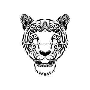 тигр нарисованный узором