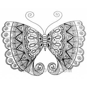 бабочка нарисованная узором