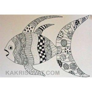 рыба нарисованная узором