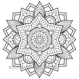 цветок узор карандашом