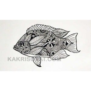 рыба рисунок карандашом