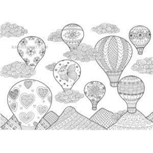 воздушные шары картинка узор карандашом