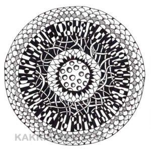 круг с узорами карандашом
