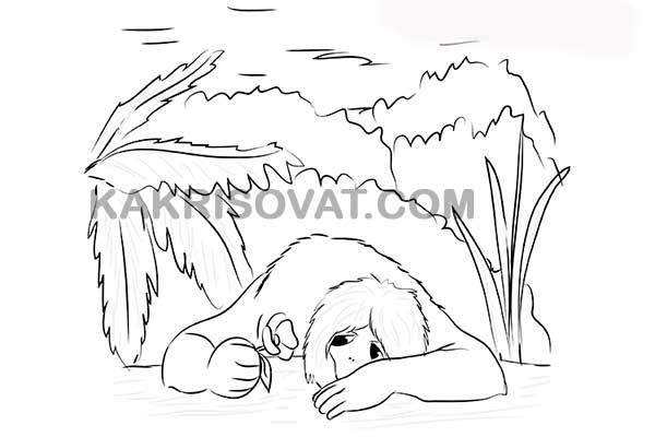 нарисовать чудовище из сказки аленький цветочек поэтапно карандашом