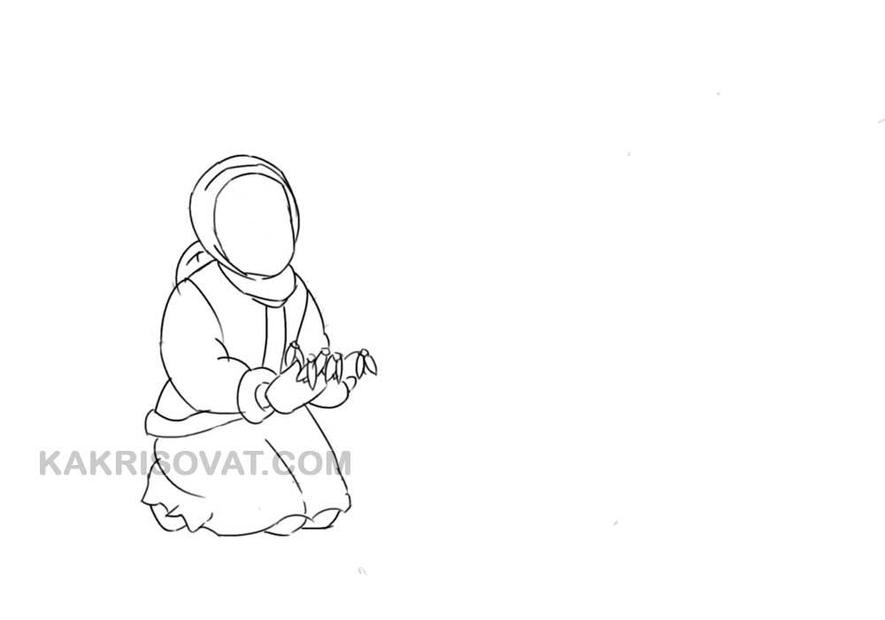 Рисунок к сказке 12 месяцев карандашом